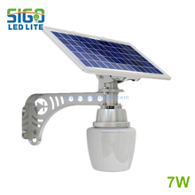 Solar garden light 7W for park garden road beautiful appearance high quality easy installed save energy